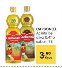 Oferta de CARBONELL Aceite de oliva 0.4° o sabor, 1 L por 3,59€