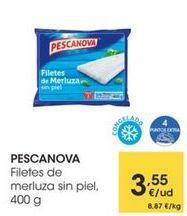 Oferta de PESCANOVA Filete de merluza sin piel, 400 g por 3,55€