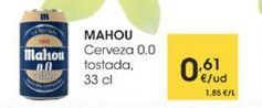 Oferta de Cerveza 0,0 tostada, 33cl por 0,61€