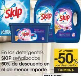 Oferta de En los detergentes SKIP señalizados por