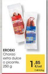 Oferta de Chorizo extra dulce o picante, 250g por 1,85€