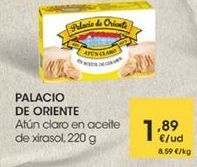 Oferta de Atún claro en aceite de xirasol, 220g por 1,89€