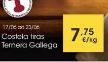 Oferta de Costela tiras Ternera Gallega por 7,75€