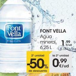 Oferta de Agua mineral, 6,25L por 1,99€
