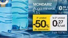 Oferta de Auga mineral, 1,5L por 0,55€