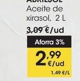 Oferta de Aceite de xirasol, 2L por 2,99€