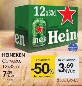 Oferta de Cerveza, 12X33CL por 7,39€