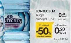 Oferta de Auga mineral, 1,5L por 0,41€