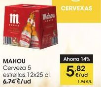 Oferta de Cerveza 5 estrellas, 12x25cl por 5,82€