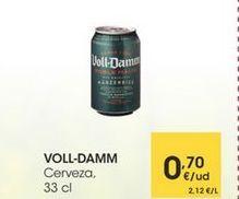 Oferta de VOLL-DAMM Cerveza, 33 cl por 0,7€