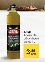 Oferta de ABRIL Aceite de oliva virgen extra,1 L por 3,85€