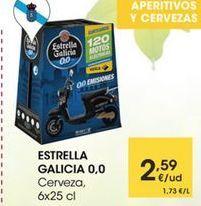 Oferta de ESTRELLA GALICIA Cerveza, 6x25 cl por 2,59€