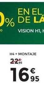 Oferta de H4 + montaje Philips por 16,95€