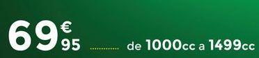 Oferta de Cambio de pastillas de freno Bosch 1000cc a 1499cc por 69,95€