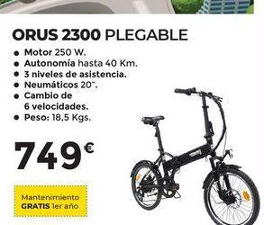 Oferta de Bicicleta plegable orus 2300 por 749€
