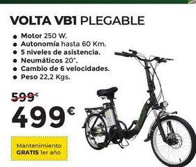 Oferta de Bicicleta plegable VOLTA VB1 por 499€