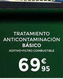 Oferta de Tratamientos anticontaminacion básico  por 69,95€