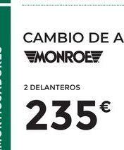 Oferta de Amortiguadores Monroe por 235€