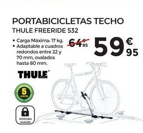 Oferta de Portabicicletas techo THULE por 59,95€