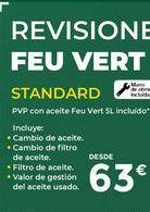 Oferta de Revisión de coche standard  FEU VERT  por 63€