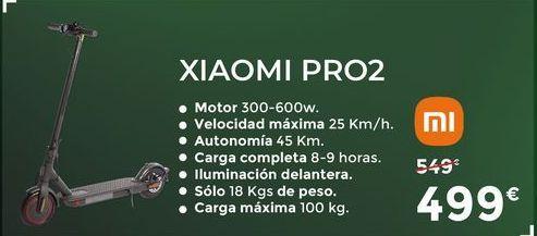Oferta de Patinete Xiaomi pro2 por 499€