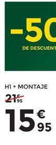 Oferta de Montaje de lámparas +H1 Philips por 15,95€