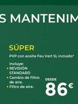 Oferta de Revisión de coche SUPER  por 86€