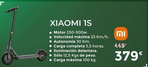 Oferta de Patinete Xiaomi 1S por 379€