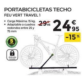 Oferta de Portabicicletas techo FEUVERT TRAVEL 1 por 24,95€