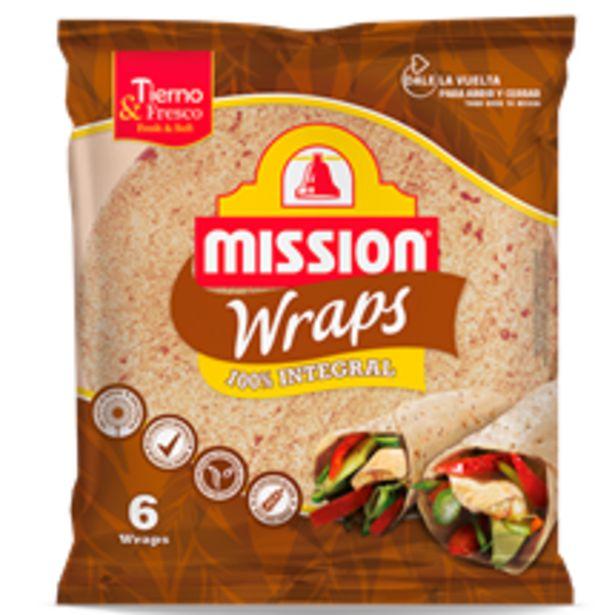 Oferta de Mission Foods - Wraps 100 Integral. AHORRO:  por 0,6€