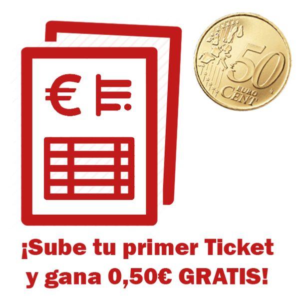 Oferta de 0,50€ GRATIS - Regalo Tiendeo por 1er Ticket. AHORRO:  por 0,5€