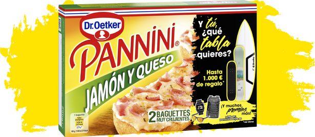 Oferta de Dr. Oetker - Pannini Jamón y queso. AHORRO:  por 1€