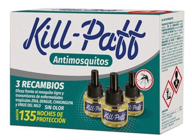 Oferta de Kill Paff  - Kill Paff Recambio Antimosquitos Triple. AHORRO:  por 1€