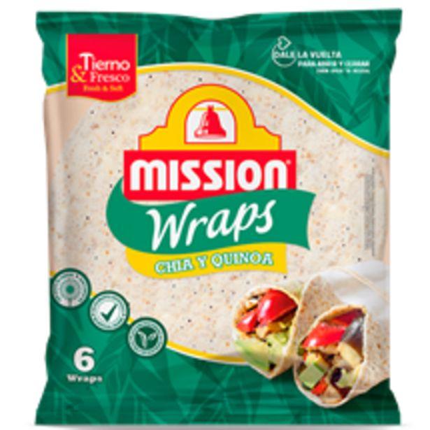 Oferta de Mission Foods - Wraps Chia Quinoa. AHORRO:  por 0,7€