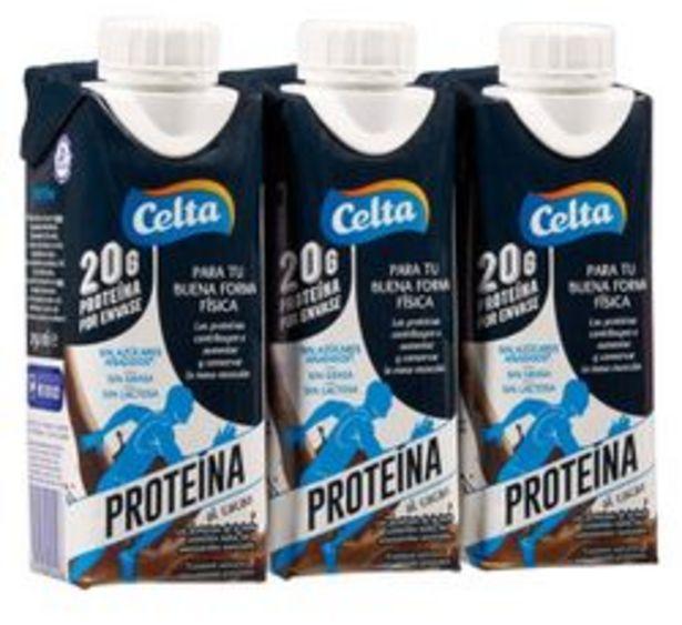 Oferta de Celta - Pack 3 Batido Celta proteína al cacao. AHORRO:  por 0,5€