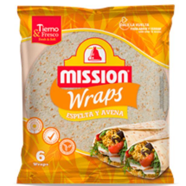Oferta de Mission Foods - Wraps Espelta Avena. AHORRO:  por 0,5€
