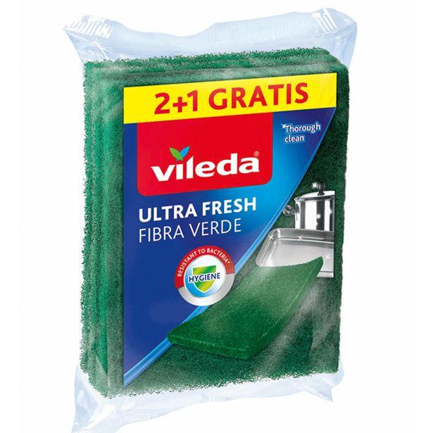 Oferta de Vileda - Estropajo fibra verde ultra fresh. AHORRO:  por 0,3€