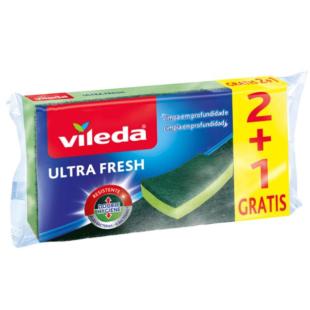 Oferta de Vileda - Estropajo fibra con esponja ultra fresh. AHORRO:  por 0,4€