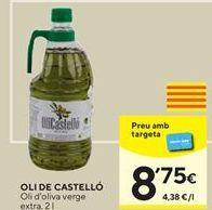 Oferta de Aceite de oliva OLI DE CASTELLO por 8,75€