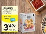 Oferta de Patatas con Bacon y queso MESA LISTA  por 3,49€
