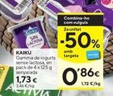 Oferta de Yogur sin lactosa Kaiku por 1,73€