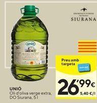 Oferta de Aceite de oliva virgen extra UNIO por 26,99€
