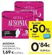 Oferta de Compresas Ausonia por 1,69€