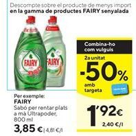Oferta de Detergente lavavajillas Fairy por 3,85€