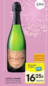 Oferta de Cava brut nature Juvé y Camps por 16,25€