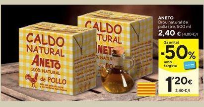 Oferta de Caldo natural Aneto por 2,4€