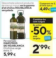 Oferta de Aceite de oliva virgen extra Hojiblanca por 5,99€