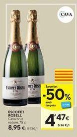 Oferta de Cava brut nature ESCOFET ROSELL por 8,95€