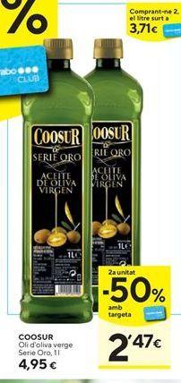 Oferta de Aceite de oliva virgen extra Coosur por 4,95€