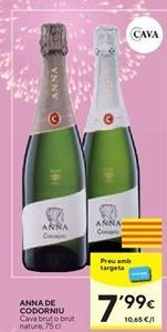 Oferta de Cava brut o brut natural Anna de Codorniu por 7,99€